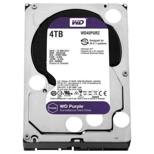 HD SATA III 4TB WD Purple Surveillance