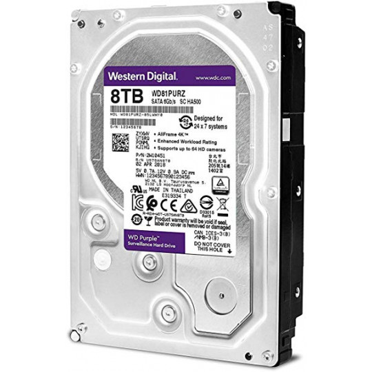 HD SATA III 8TB WD Purple Surveillance
