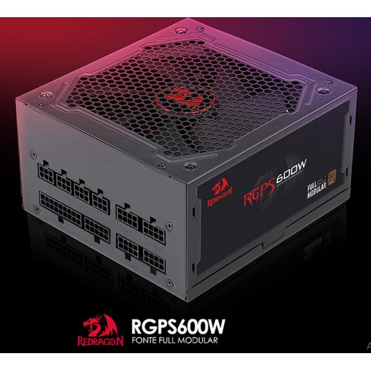 Fonte Red Dragon 600w 80 plus Full Modular