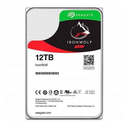 """HD SEAGATE IRONWOLF 12TB 3.5"""" SATA III 6GB/S, ST12000VN0008"""
