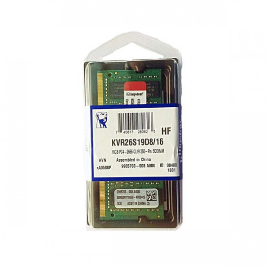 Memória Notebook Kingston 16Gb DDR4 2666mhz