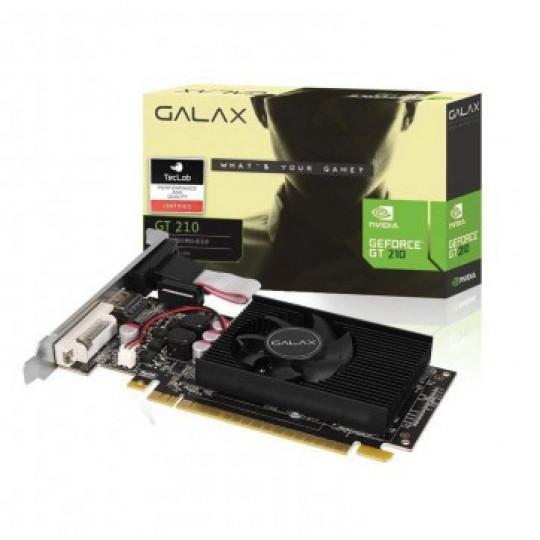 Placa de Vídeo VGA GeForce GT 210 NVIDIA Galax 1GB DDR3 64 Bits VGA DVI HDMI - 21GGF4HI00NP