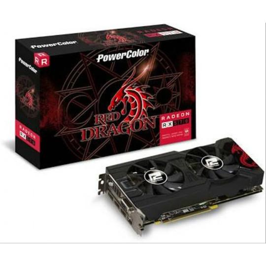 Placa de Vídeo RX 570 4GB Red Dragon