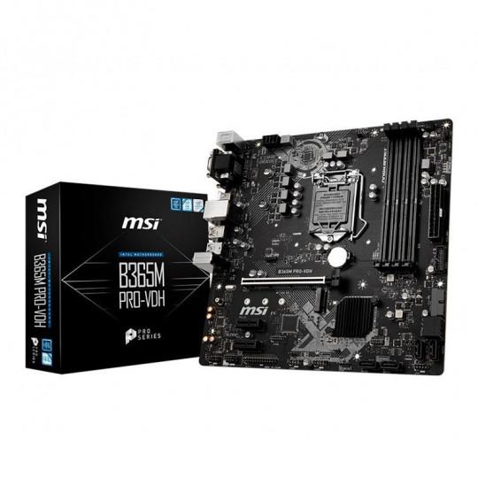 PLACA MAE MSI B365M PRO-VDH DDR4 SOCKET LGA1151 CHIPSET INTEL B360