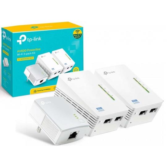 Extensor de WiFi Powerline AV600 Triplo KIT TL-WPA4220T TP-Link